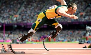 World-famous athlete Oscar Pistorius was granted bail at the Pretoria Magistrates Court on Friday. – image - www.guardian.co.uk