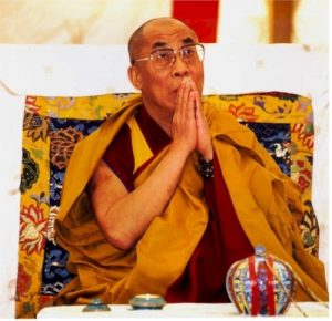 The Dalai Lama. The Summit for Nobel Peace Laureates has been moved from South Africa because he was denied a visa by government due to China pressure.