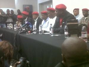 The executive leadership of the EFF includes (from right to left) Floyd Shivambu, Julius Malema, Mpho Ramakatsa and Kenny Kunene. – image – publicnewshub.com