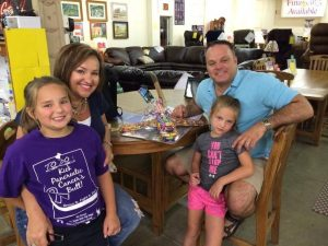 The family that perished in the plane crash. The survivor, Sailor Gutzler is the one in pink shots.  Image: Register News.