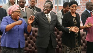 Joice Mujuru, left, before she was sidelined by the first family. Grace is on the extreme right.  Image: Bulawayo 24
