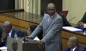 David Makhura addresses the Gauteng Provincial Legislature. Image: Eye Witness News