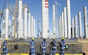 Medupi Power Station during its construction stages. It produced its first electricity on Monday. Image: BDLive
