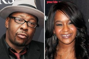 Bobby Brown, left, and daughter Bobbi Kristina Brown who was found unresponsive in a tub.  Image: The Mirror.