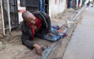 Mozambican, Emmanuel Sithole after he was stabbed in Alexandra.  Image: Sunday Times