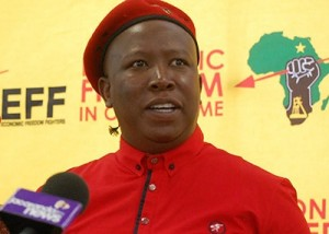 Malema says Zuma failed to protect State Coffers Image: Mamba Online.
