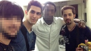 The two Iranian men who boarded the Ill-fated Malaysian Flight before the flight.  (Photo: www.mirror.co.uk)