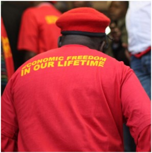 A sea of red is expected in Marikana as the Economic Freedom Fighters proceed with plans for the national launch of the organisation this Sunday. – image – Ntokozo Sindane