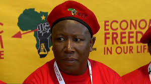 Economic Freedom Fighters Julius Malema