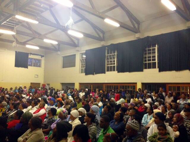 Patriotic Alliance Meeting in Manenberg, Cape Town. Image: Twitter.
