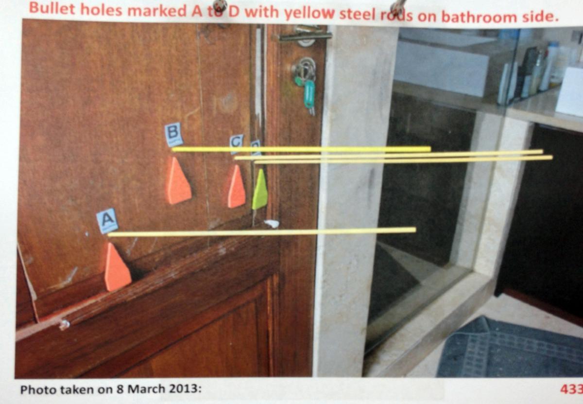 Oscar's Bathroom Door: Why was it locked? Photo NY Daily News.