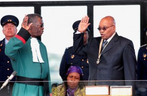President Jacob Zuma (right) was sworn in as president by Chief Justice Pius Langa (left) in 2009. – image - www.iol.co.za
