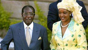 Grace Mugabe (right) with husband, President Robert Mugabe.