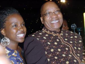 Thuthukile with her father Jacob Zuma. Photo: IOL