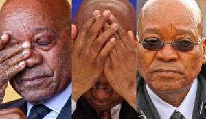 The stresses of the juggling act of the New Cabinet taking their toll on President Zuma. Photo: The Daily Maverick.