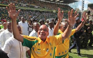 President Zuma Arrives at an ANC gathering.  Image: The Telegraph.